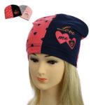 """Детская шапка для девочек NCG-020 """"Love me"""""""