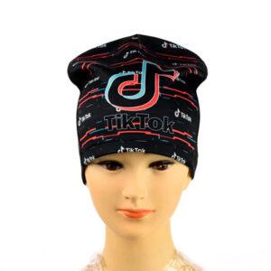 """Трикотажная шапка для девочек """"Tik-Tok"""" AHT 068"""